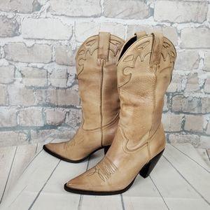 Vintage Ladies Leather Cowboy Boot Heel Size 6